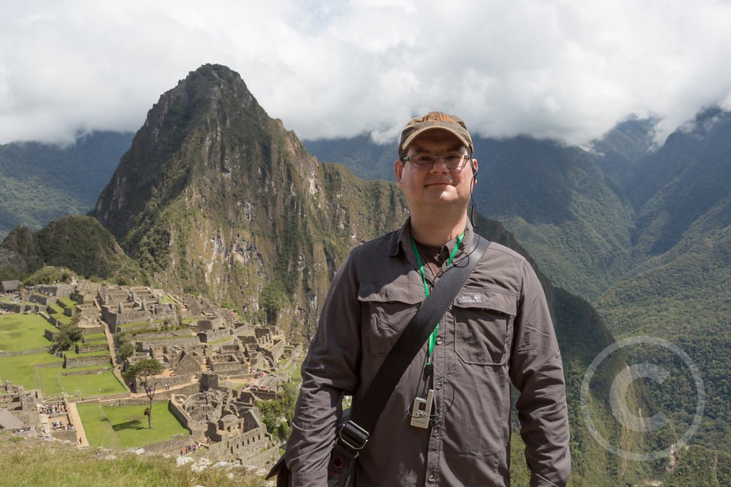 Me in front of Machu Picchu